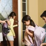 kids leaving for school