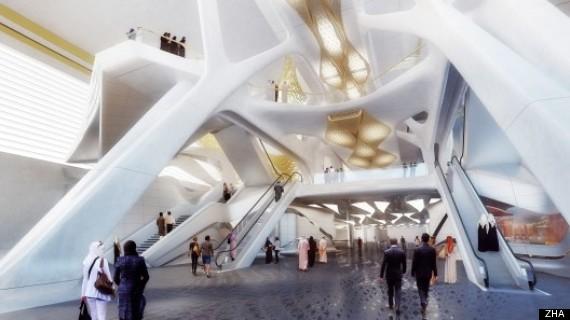 Zaha Hadid's Metro Station Design